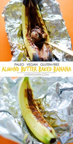 This warm, gooey Almond Butter Baked Bananas recipe is such an easy and delicious way to satisfy your sweet tooth for breakfast or dessert without any added refined sugar! It's gluten-free, vegan, paleo dessert that is packed with flavor (and I think your whole family is going to love it!) // Live Eat Learn