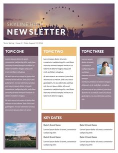 Free Newsletter Template HttpWwwMsofficeguruOrgNewsletter