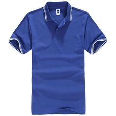 Polo Shirt Men Polos Homme Camisas Masculinas Mens Casual Cotton Slim Short Sleeves Polo Shirts Plus Size Xxx Clothing Blue XS Polo Shirt Colors, Polo Shirt Women, Polo Shirts, Camisa Polo, Spring Shirts, Loose Tops, Slip, T Shirt, Shirt Men