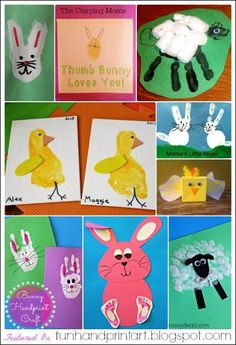 Don't you just love all the pretty pastel colors associated with Easter? We always tend to go a little crazy creating all kinds of fun handprint and footprint Easter crafts. There are so many creative ways to celebrate this cheerful holiday. Here is a round up of over 30 crafts for kids made with little...