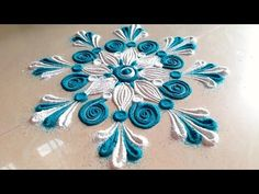Easy and simple rangoli designs for beginners | Unique and creative rangoli designs with Colours! - YouTube