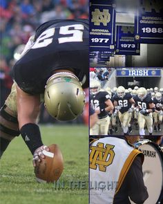 Notre Dame Irish Football Collage