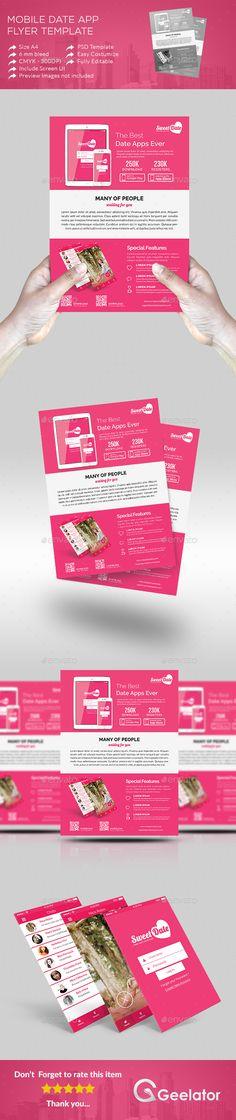 Food Menu Flyer Template Negozi, Modello di volantino e Ristorante - flyer outline