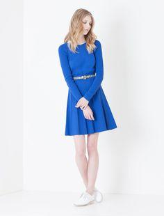 Knit corolla dress