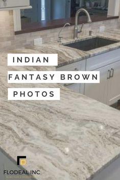 Fantasy Brown Marble Granite - Bathroom Granite - Ideas of Bathroom Granite - Beautiful Fantasy Brown Granite Granite Countertops Colors, Outdoor Kitchen Countertops, Granite Kitchen, Kitchen Backsplash, Granite Backsplash, Kitchen Granite Countertops, Concrete Countertops, Updated Kitchen, New Kitchen