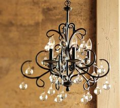 """Bellora Chandelier, by Pottery Barn  20"""" diameter, 22"""" height, 6' chain"""