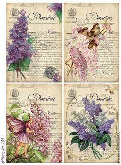 quenalbertini: Vintage lilacs digital collage sheet by bitmap Vintage Labels, Vintage Ephemera, Vintage Cards, Vintage Postcards, Images Vintage, Vintage Pictures, Etiquette Vintage, Decoupage Vintage, Printable Labels
