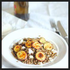 Salada reconfortante de lentilhas e batata doce