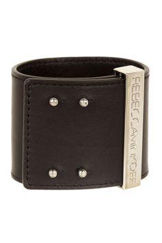 Rebecca Minkoff Studded Pave Leather Bracelet