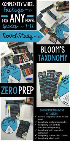 Complexity Wheel Package | Works with ANY novel | Novel study | Based on Bloom's…