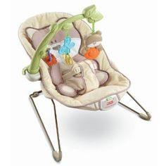 What I liked in this bouncer - only having one, small, non-garish colors, not too many harnesses/straps to deal with, removable infant insert, vibrating thingy under the seat.  The hanging toys don't matter so much.  Without a bouncer you may never shower again.