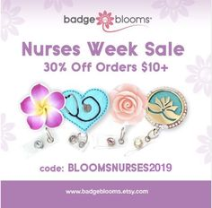 Pre-Nurses Week SALE is live! Save off items thru For years BadgeBlooms have been a leading choice for Nurses Week Gifts. Now is your chance to purchase them for your colleagues, team mates and staff members in plenty of time to celebrate! Nurses Week Gifts, Nurse Gifts, Essential Oil Diffuser, Essential Oils, Nurse Jewelry, Id Badge Reels, Name Badges, Time To Celebrate, Badge Holders