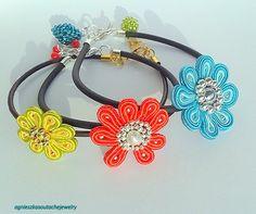 kolorowe kwiatki na rękę :)