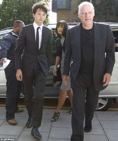David Gilmour & adopted son Charlie | Pink Floyd on their way into court :(