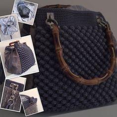 Borsa artigianale modello Noisette Crochet Handbags, Crochet Bags, Louis Vuitton Damier, Bubble, Monogram, Michael Kors, Pattern, Etsy, Crochet Purses
