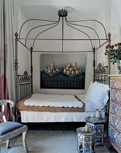 Home of Alvaro Bravo, Marrakech 2005  I would feel as though I were a queen sleeping under her crown