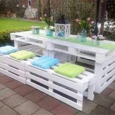May 2019 - Trendy backyard patio furniture diy pallet ideas ideas Wood Pallet Beds, Pallet Garden Furniture, Patio Furniture Cushions, Wood Pallets, Diy Furniture, Outdoor Furniture, Garden Sofa, Pallets Garden, Pallet Chair
