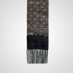 Black Silk Paisley Print Scarf - Scarves - Accessories - Crombie
