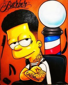 The simpsons barber ✌🏻🧔🏼 vempraniza 💈✂️ Barber Tattoo, Barber Logo, Simpsons Drawings, Simpsons Art, Simpson Wallpaper Iphone, Wallpaper Iphone Cute, Album Design, Barber Shop Decor, Simpsons Characters