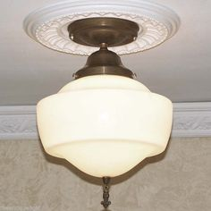 {{ Awesome }}  VINTAGE  20's 30's  Glass CEILING LIGHT LAMP Fixture