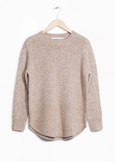& Other Stories image 1 of Alpaca-Blend Sweater in Light Beige