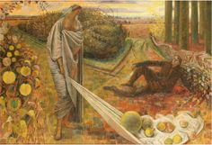 Autumn and the Poet, 1948-60, by Evelyn Dunbar.  Photograph: The artist's estate / Courtesy of Liss Llewellyn Fine Art