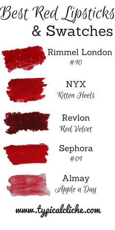 Best Red Lipsticks for the Holidays! Best Red Lipstick, Lipstick Colors, Red Lipsticks, Lip Colors, My Beauty, Beauty Makeup, Beauty Hacks, Hair Makeup, Hair Beauty