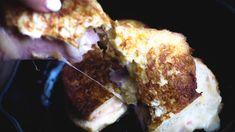 Cheese Toast, French Toast, Pork, Meat, Breakfast, Kale Stir Fry, Morning Coffee, Pork Chops