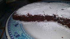 Ally ♥ torta bassa al cioccolato - simil brownie #chocolate #cake #italianfood