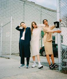 """ #weOHK #thesisterhood Shot by @luckango / Creative Direction @sarahinbrooklyn of @ohkworld / Models @alifribourg @blackskin.goldsoul…"""