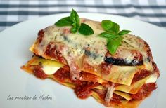 Lasagnes aux aubergines et mozzarella Italian Recipes, New Recipes, Healthy Dinner Recipes, Vegetarian Recipes, Zucchini, Pasta Recipes, Cooking Recipes, Healthy Dishes, Cheap Meals