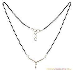 Diamond Mangalsutra Designs India | White Gold Diamond Mangalsutra ( Diamond MangalSutras )