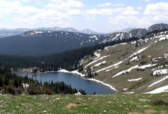 Colorado's Rawah Wilderness near Fort Collins and Walden unfolds into 76 miles of trails through forests speckled with transparent lakes. From secluded Blue Lake, you can see all the way to Rocky Mountain National Park.