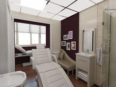 Дизайн интерьера в пос. Солнечный выполнен во Французском стиле. Такой интерьер создает благоприятную атмосферу для релаксирующих процедур.