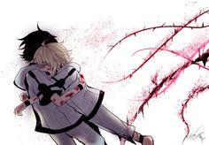 Mika and yuu yaoi owari no seraph / seraph of the end Mikayuu Vampires, Neko, Mika Hyakuya, Cosplay Anime, Kuroken, Dark Thoughts, Seraph Of The End, Wattpad, Owari No Seraph