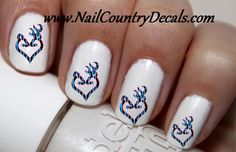 50pc Blue Zebra DBL Love Country Zebra Camo Deer Nail Decals Nail Art Nail Stickers Best Price NC1773