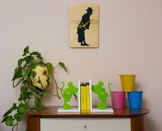 OROLOGIO LEGNO TOTO' nero e legno naturale di FantasieArtigianali