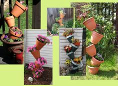 Tipsy Tower Pots