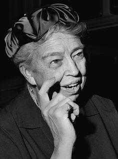 Элеонора Рузвельт, 1958. Супруга президента США Франклина Делано Рузвельта. Другому президенту, Теодору Рузвельту, Элеонора приходилась племянницей