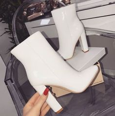 45 Sock Shoes To Update You Wardrobe Shoes # Perfect Sock Shoes High Heels Boots, Heeled Boots, Bootie Boots, Shoe Boots, Shoes Heels, White Heel Boots, Bootie Heels, Ankle Boots, Sneaker Heels