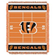 2f3c7dac8b9f7 petite NFL 04401 Bengals Field Baby Throw (Multi Colored)