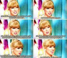 Taylor Swift talking about their mini-me's in the 'Everything Has Changed' video. Taylor Swift Facts, Taylor Alison Swift, Taylor Kitsch, Live Taylor, Red Taylor, Bellarke, Captain Swan, Delena, Malec