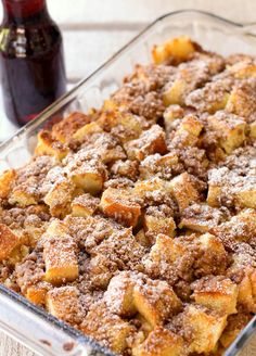 French Toast Bake, try making with Jimmy John's Day Old Bread