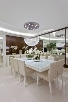 modern dining room decor ideas dining table and chairs design 2019 Luxury Dining Tables, Luxury Dining Room, Dining Table Design, Modern Dining Table, Dining Room Table, Dining Rooms, Living Room Decor Elegant, Elegant Dining Room, Dinner Room