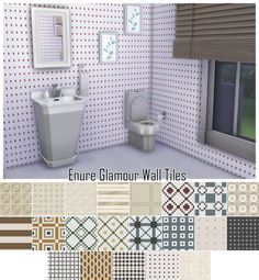 Sims 4 CC's - The Best: Enure Glamour Wall Tiles by Enure Sims