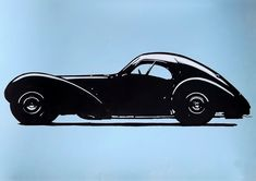 The great Bugatti Type 57SC Atlantic, made with acrylic paint and markers