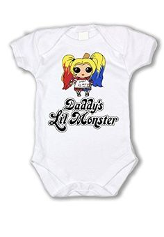 03e0b268 Suicide Squad Harley Quinn Daddy's Lil Monster Baby Bodys... https://
