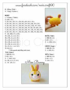 Miss Bunny Tsum Tsum crochet pattern