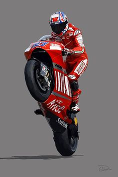 Casey Stoner Digital Art - Casey Stoner by Charley Pallos Valentino Rossi, Ducati Motorcycles, Bobber Motorcycle, Ducati Motogp, Moto Wallpapers, Grand Prix, Futuristic Motorcycle, Moto Guzzi, Super Bikes