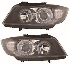 Bmw e90 saloon & estate #3/2005-2007 #headlights #angel eyes black inner led 1 pa,  View more on the LINK: http://www.zeppy.io/product/gb/2/331503953606/
